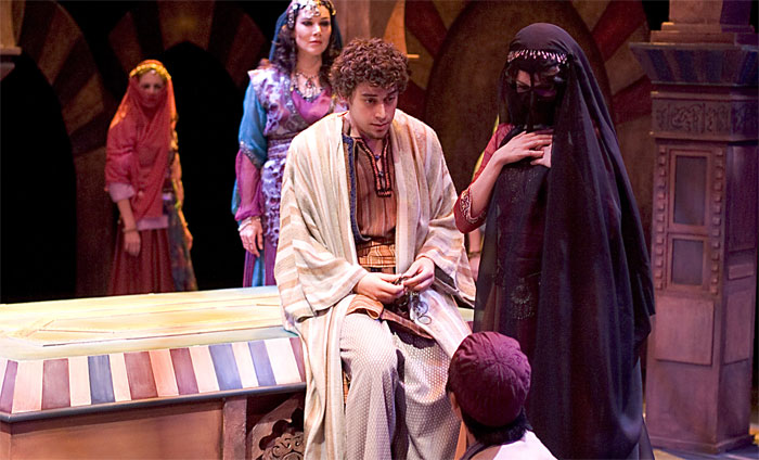 Jake Dogias as The Madman in Arabian Nights